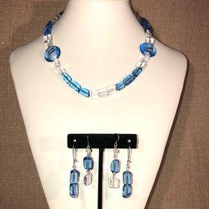 🆕 Handmade Necklace w/ 2 Earring Set - Glass Bead